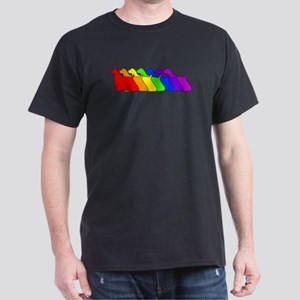 Rainbow Cocker Spaniel Dark T-Shirt